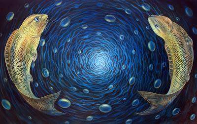 peixes e espiral